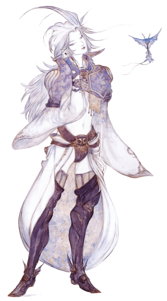 Final Fantasy IX Kuja design Yoshitaka Amano