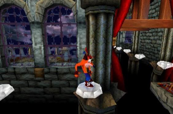 Crash Bandicoot the great hall level playstation naughty dog