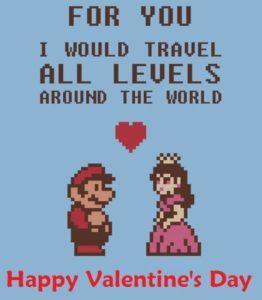 Mario retro Saint Valentin