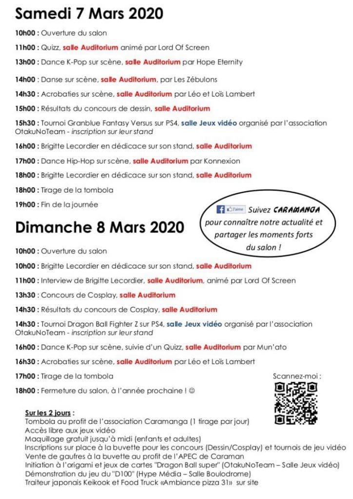 Programme CARAMANGA 2020