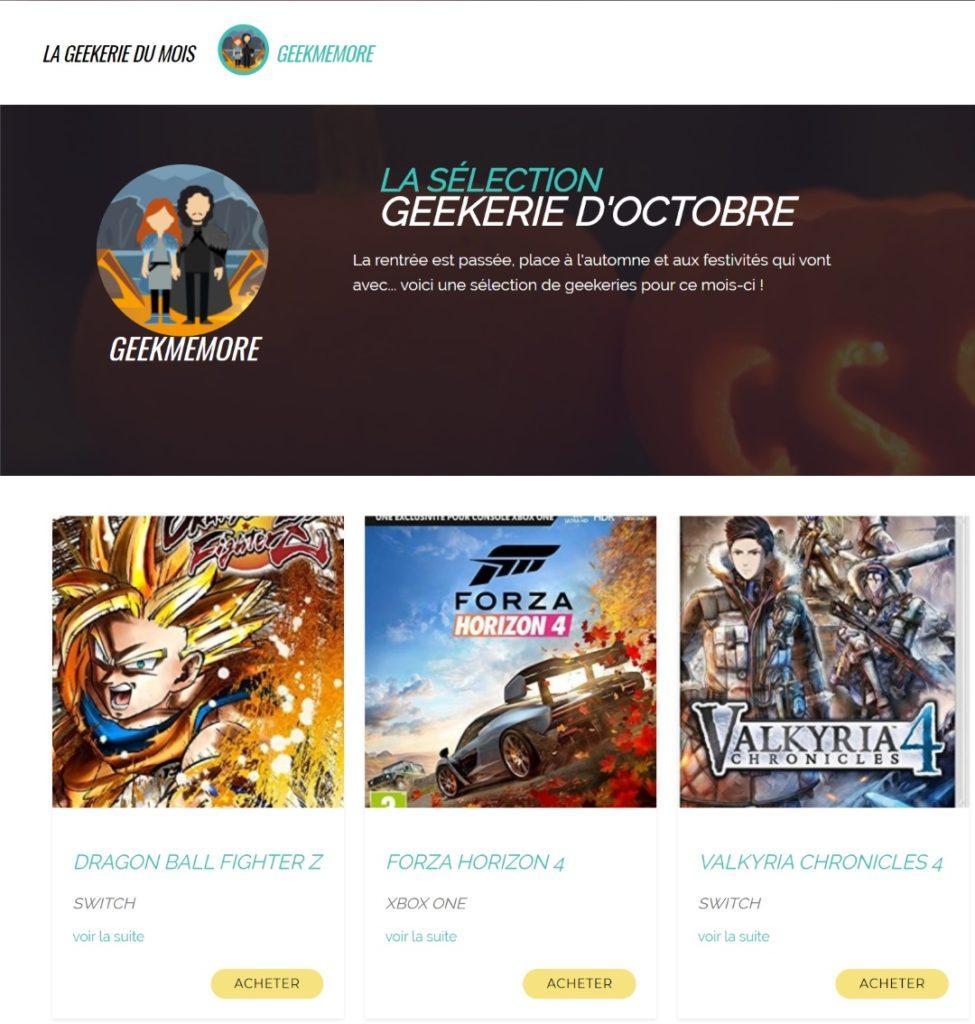 Geekeries du mois GeekMeMore Geek Me More site de rencontre