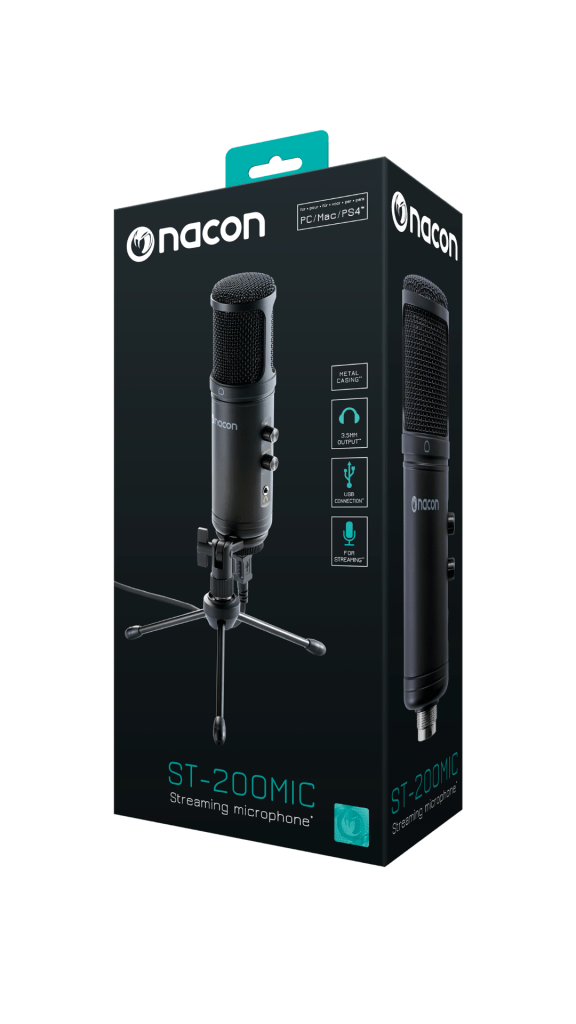 Nacon ST-200MIC Streaming Microphone High Tech Hardware Unboxing box black blue