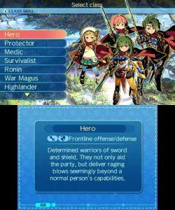 Etrian Odyssey Nexus créer équipe create team choisir classe choose class job Nintendo 3Ds Atlus Koch Media 2