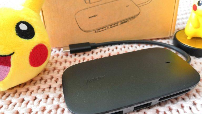 Hub USB C CB C68 Aukey zoom