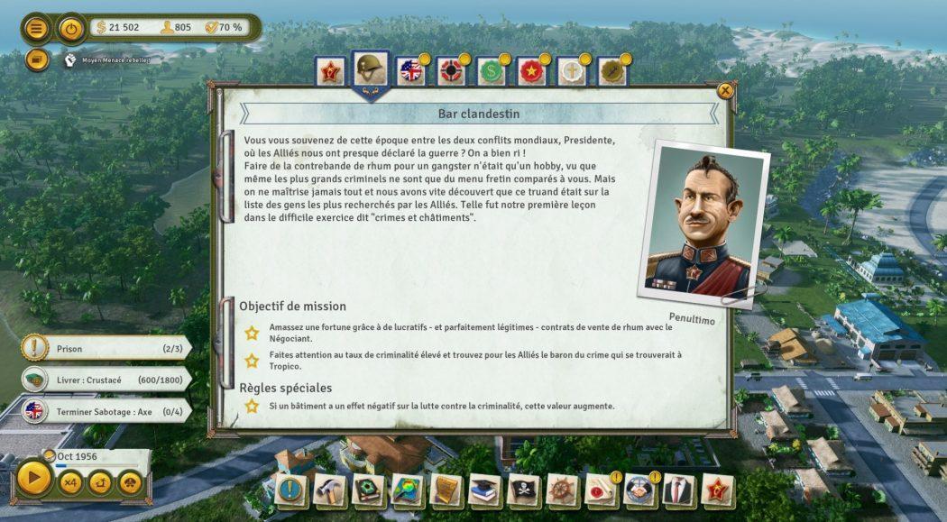 Tropico 6 Contour de l'ère Kalypso AK&CO jeu de gestion simulation dictature
