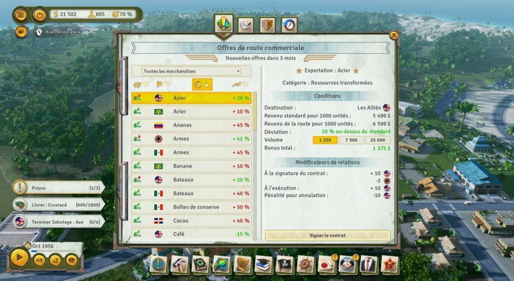 Tropico 6 commerce Kalypso AK&CO jeu de gestion simulation dictature
