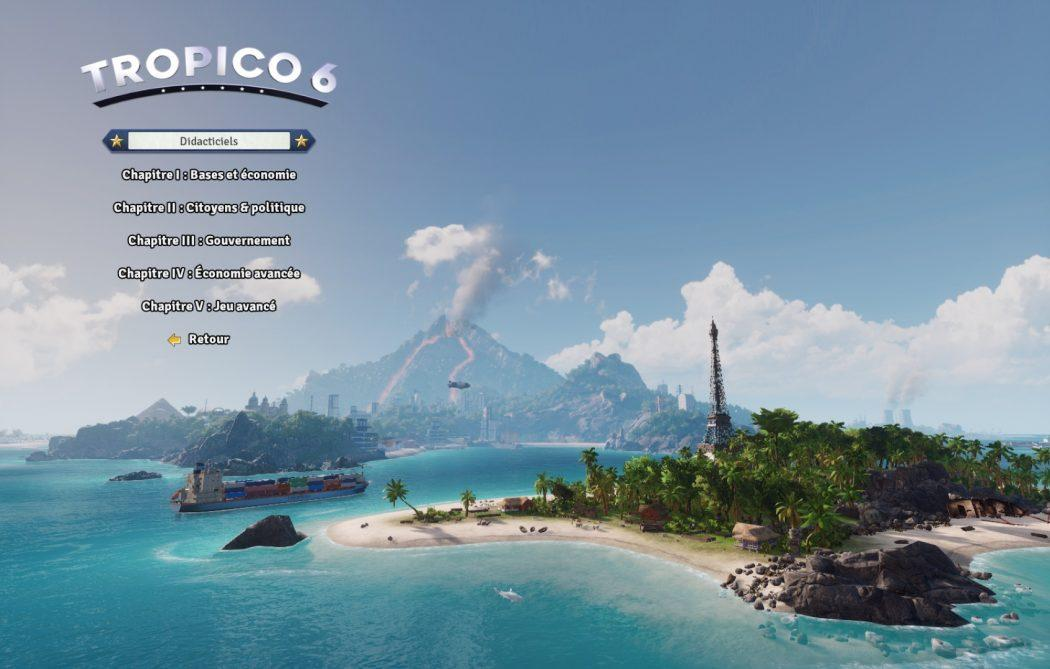 Tropico 6 filtres tutoriel didactiel Kalypso AK&CO jeu de gestion simulation dictature