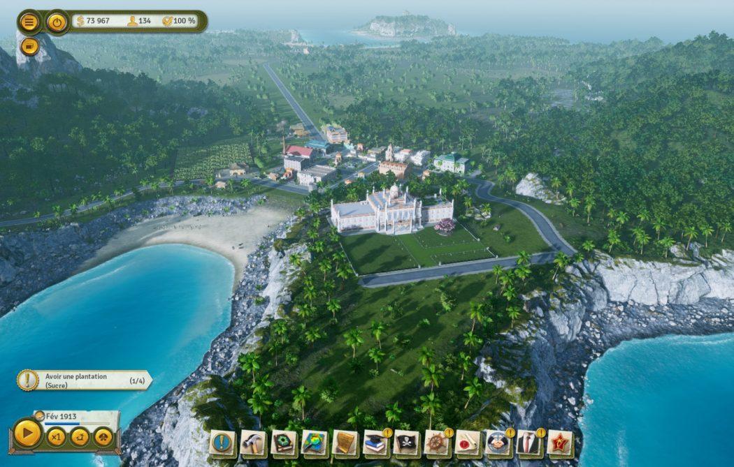 Tropico 6 filtres vue générale Kalypso AK&CO jeu de gestion simulation dictature