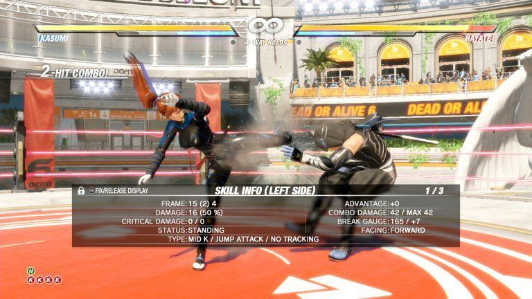 Dead Or Alive 6 training Kasumi Hayate jeu de combat baston vs fighting Koch Media Koei Tecmo Ninja Team PS4 Xbox One Steam