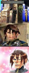 Squall Leonhart Linoa Heartilly Final Fantasy VIII Meme Pixel Guy