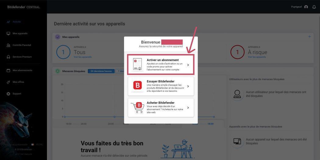 Acheter essayer bitdefender total security accueil bitdefender central activer son abonnement