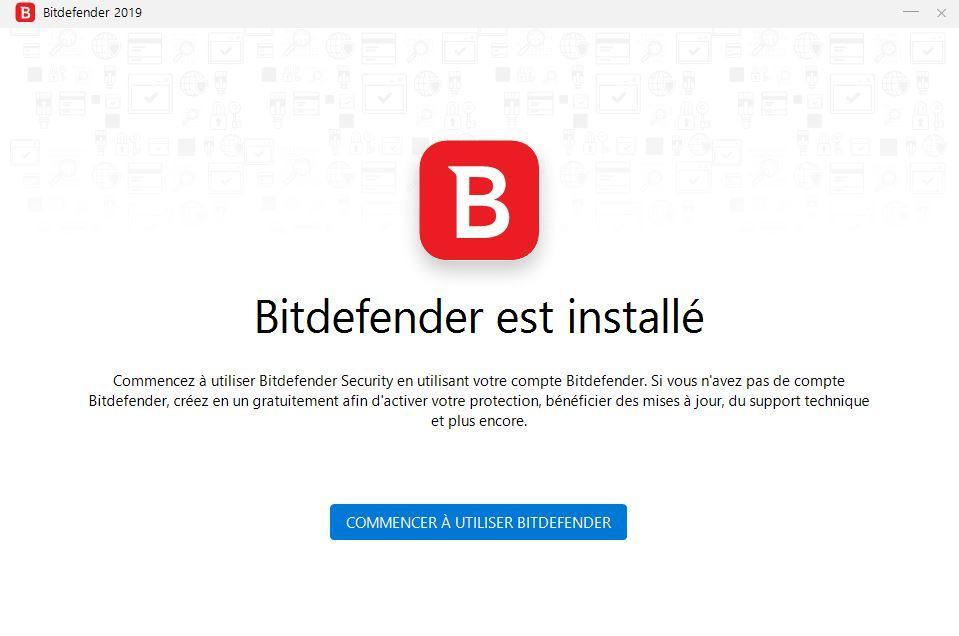 Bit Defender Total Security installation terminée