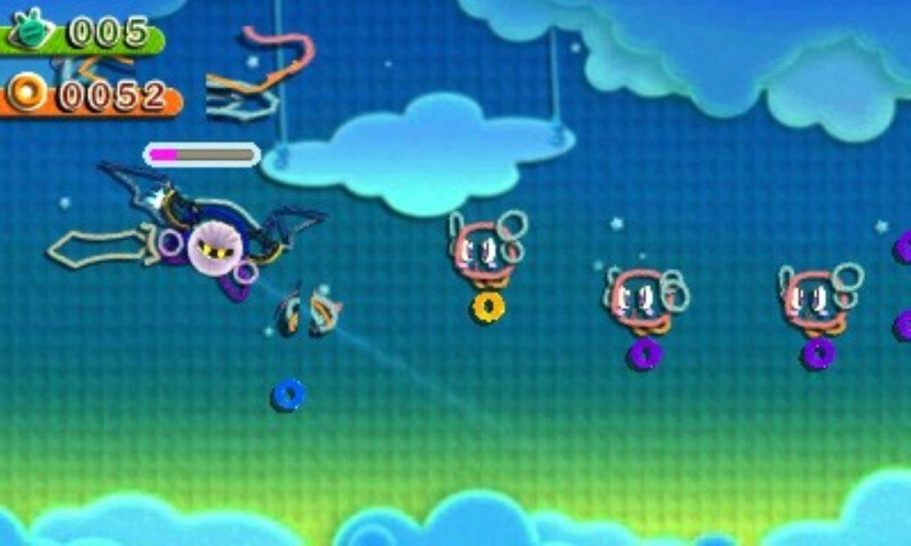 Meta Knight Kirby Au Fil de La Grande Aventure jeu de plateforme Nintendo 3DS