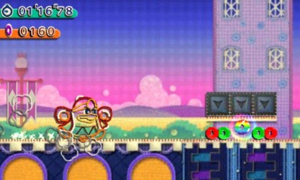 Roi Dadidou Kirby Au Fil de La Grande Aventure jeu de plateforme Nintendo 3DS