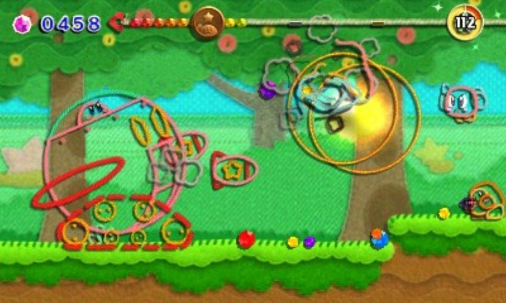 Transformation Robot Tank Kirby Au Fil de La Grande Aventure jeu de plateforme Nintendo 3DS