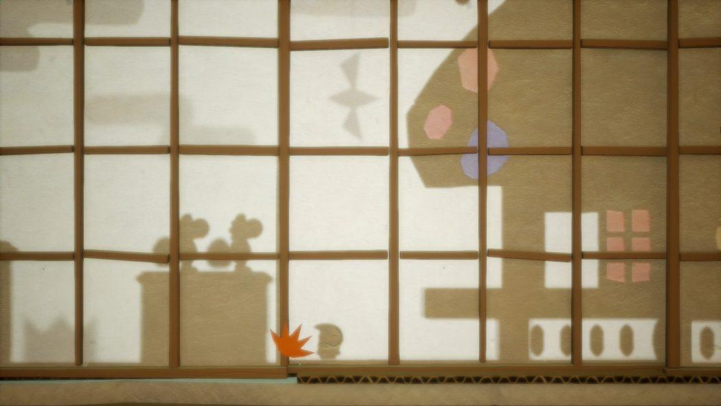 Yoshi's crafted world shadow effect effet ombre jumping character jeu de plateforme nintendo switch
