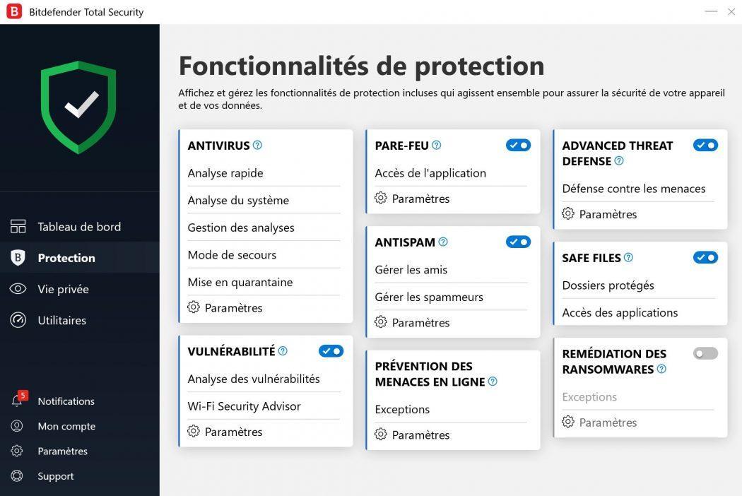 bitdefender total security 2019 protection sécurité
