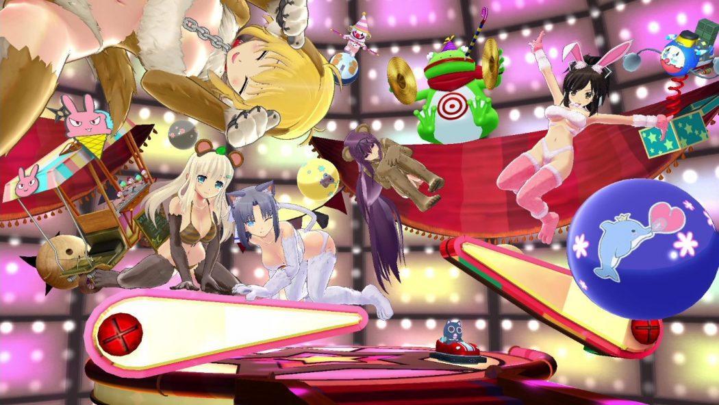 senran kagura peach ball nintendo switch steam jeu vidéo pinball flipper sexy girls Asuka Yumi Yomi Murasaki Ryona