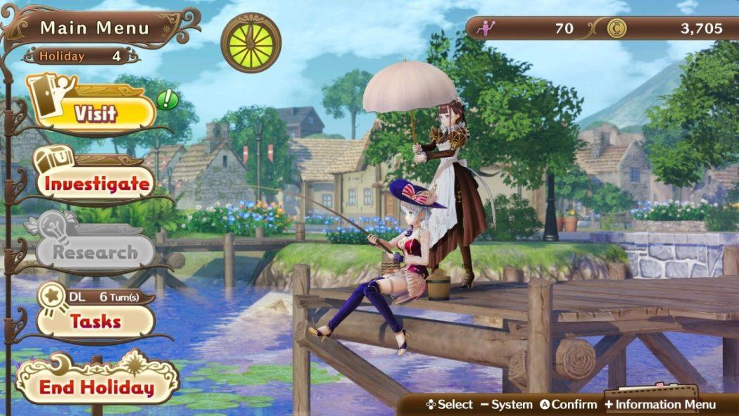 Nelke & The Legendary Alchemists Ateliers Of The New World Holiday Phase Nintendo Switch Jeu de Gestion