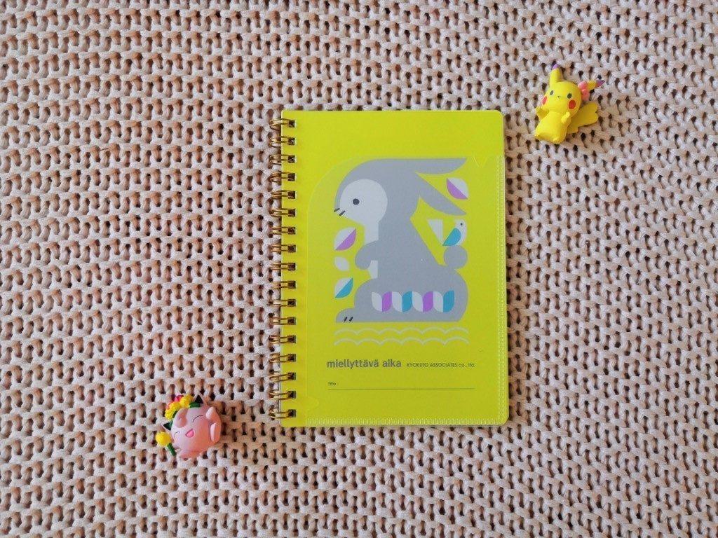 Box ZenPop Retour école Septembre 2019 Kawaii Box Papeterie Back To School carnet jaune motif lapin