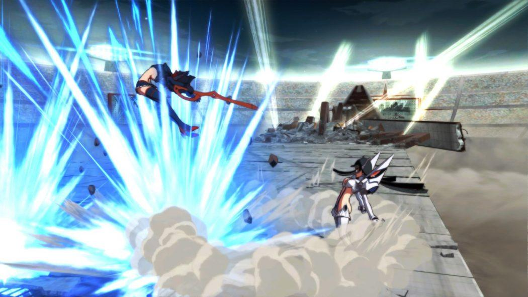 Kill la Kill If jeu de combat Ryuko Satsuki vs fighting scene