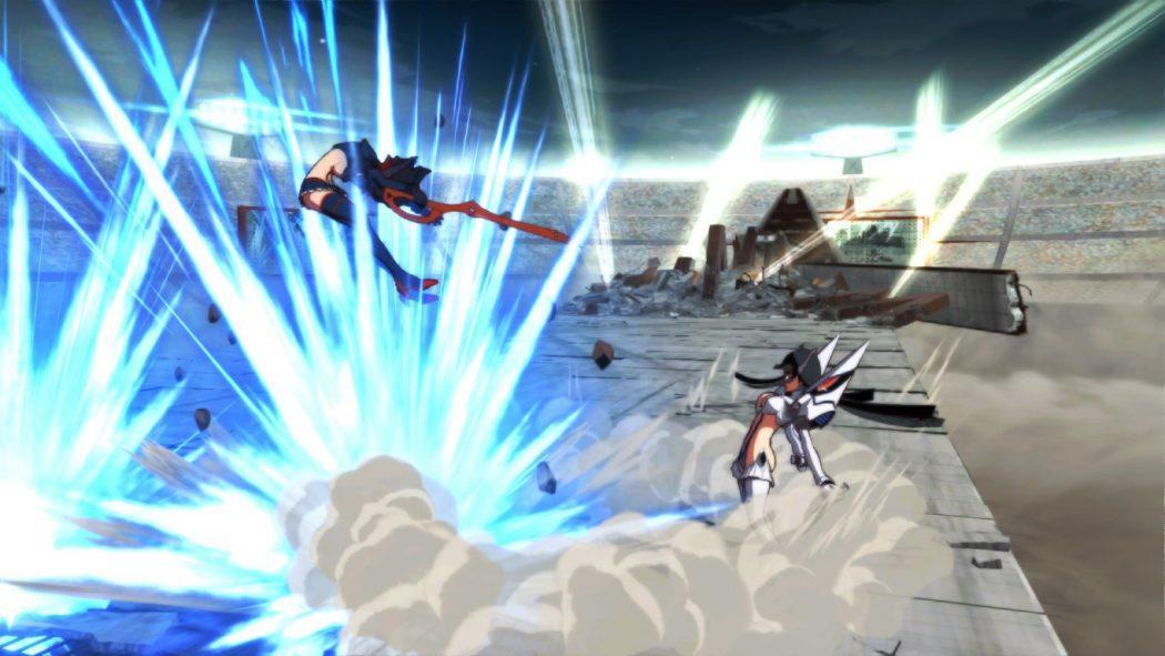 Kill la Kill If jeu de combat Ryuko Satsuki vs fighting scene