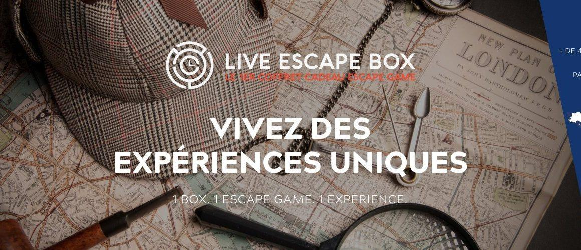 Live Escape Box, un coffret cadeau pour tester vos neurones !