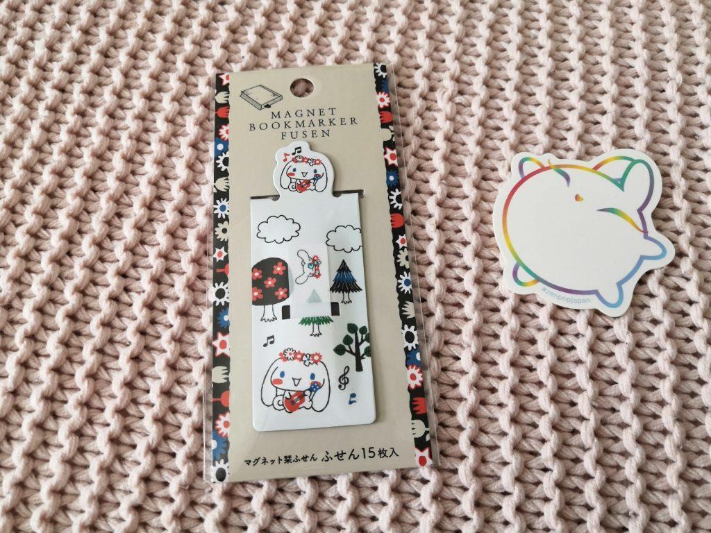 zenpop boulangerie de Sumikko novembre 2019 Kawaii Box Papeterie bullet journal bujo Marque parge magnétique avec notes autocollantes
