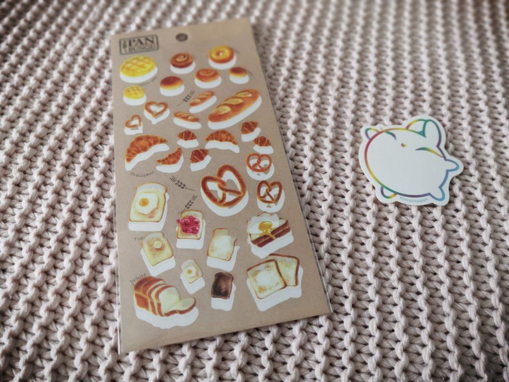zenpop boulangerie novembre 2019 Kawaii Box Papeterie bullet journal bujo Pan Bungu Stickers Autocollants