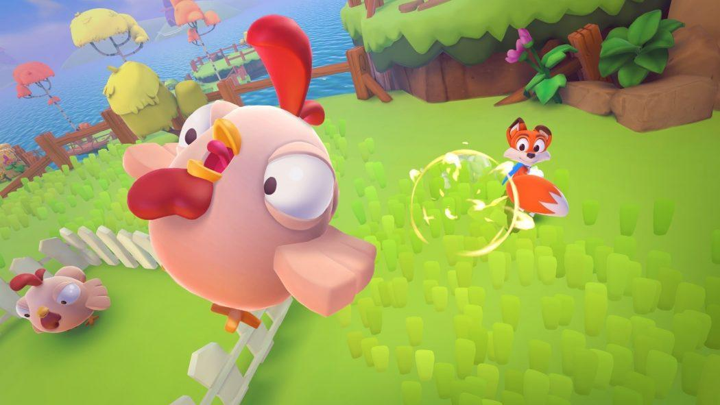 New Super Lucky's Tale poule chicken