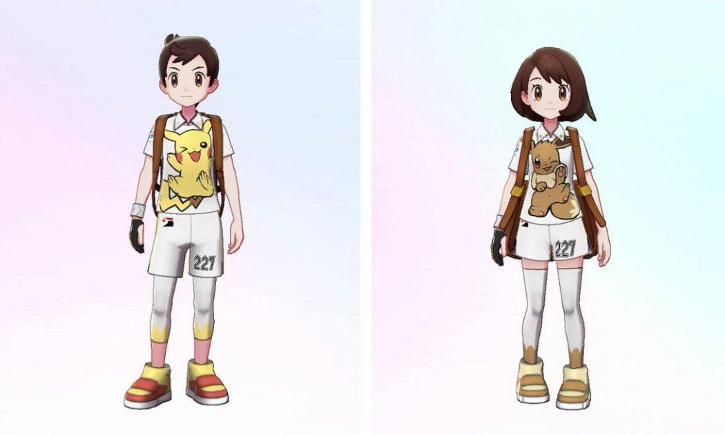 pokémon épée bouclier pass extension bonus précommande uniforme pikachu évoli
