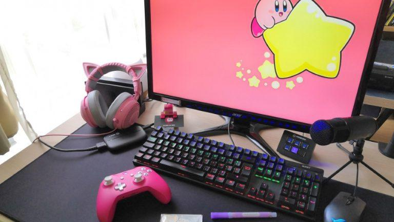 setup gaming streaming girly stream deck elgato xbox gamelab razer acer asus rog nacon