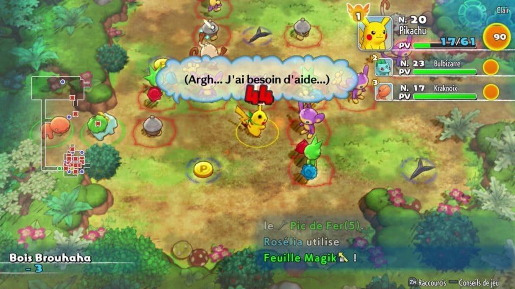 pikachu combat pokémon donjon mystère équipe de secours dx démo nintendo switch