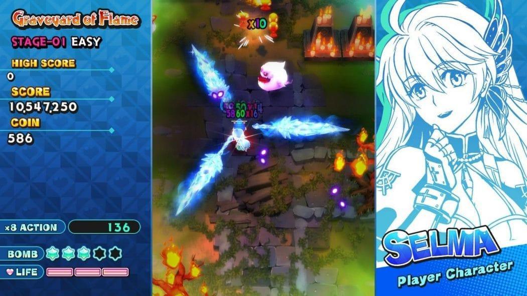 Selma Graveyard of Flame Sisters Royale jeu de tir shoot em up shmup Nintendo Switch PS4