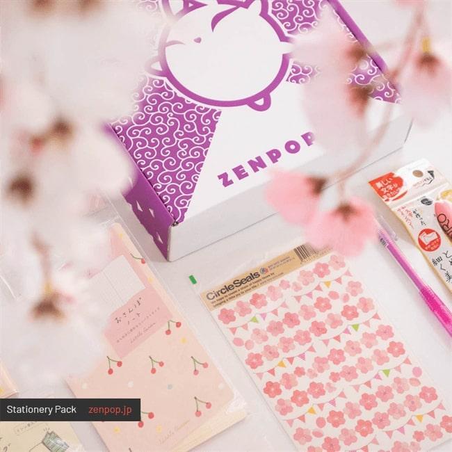 Zenpop box papeterie kawaii Sakura 2020