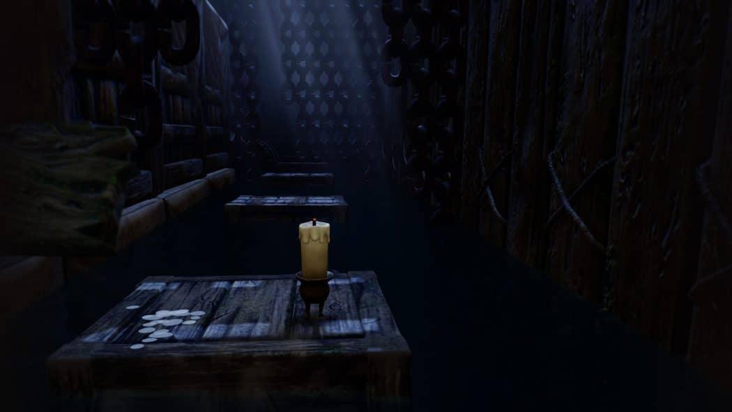 Candleman niveau sombre cale bâteau jeu aventure énigmes puzzle game réflexion plateformes