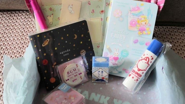 """Zenpop """"Monde Féérique"""" Pack Papeterie mars 2020 stationery pastel fairy tale unboxing 1"""