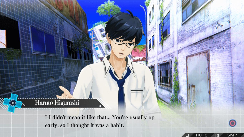 zanki zero last beginning survival rpg playstation haruto higurashi dialogue