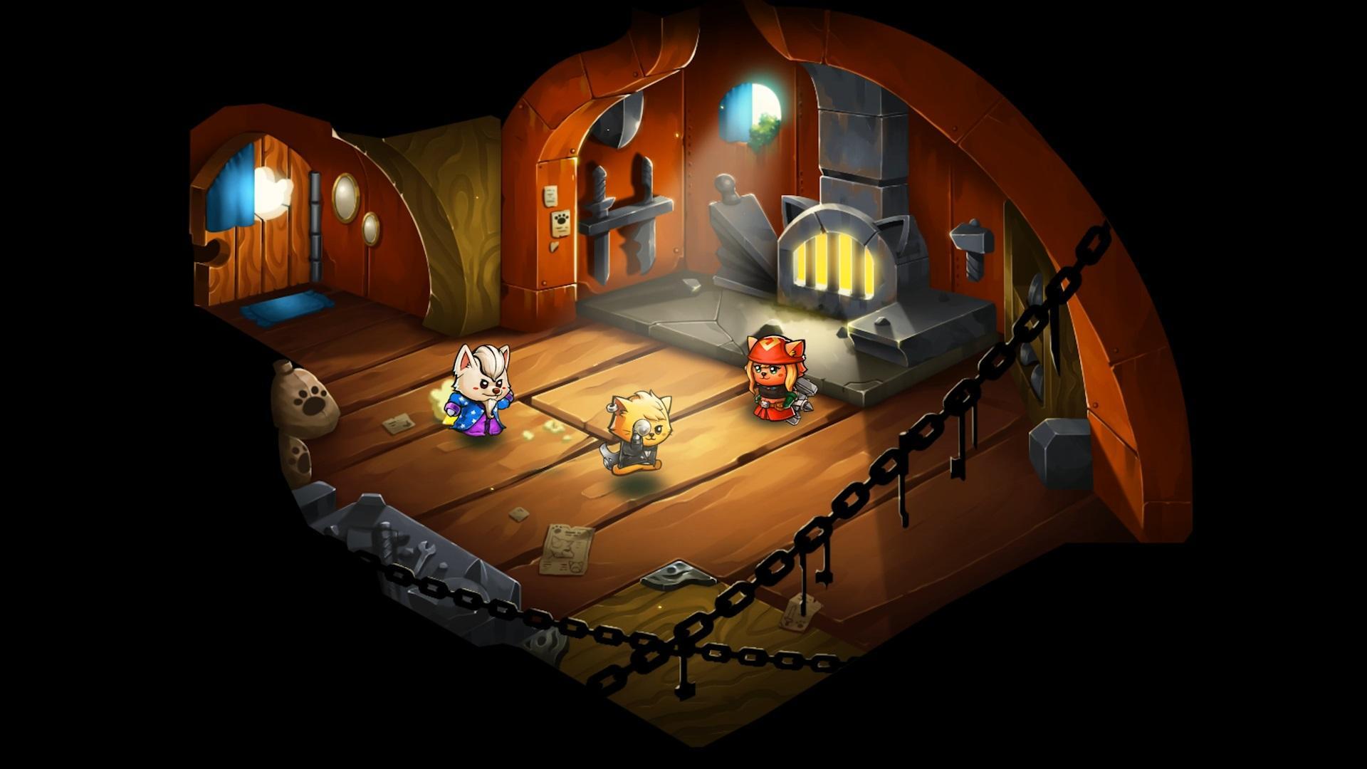 Cat Quest II jeu vidéo rpg aventure amélioration armes équipement forgeron minou