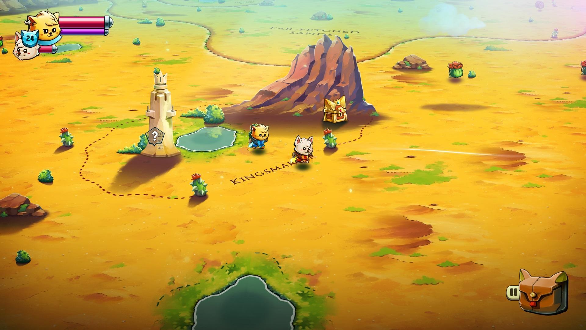 Cat Quest II jeu vidéo rpg aventure déplacement carte Lupus