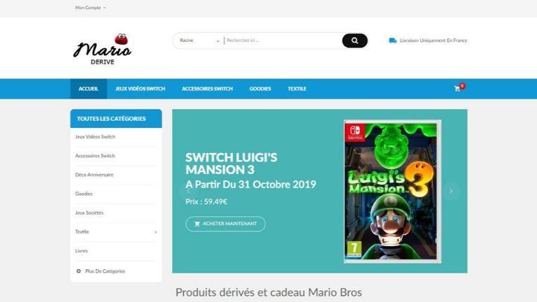 MarioDerive : jeune boutique de produits dérivés et jeux vidéo Mario Bros