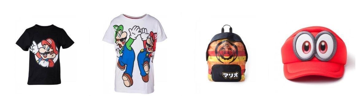 MarioDerive boutique super mario bros textile nintendo tshirt casquette sac à dos
