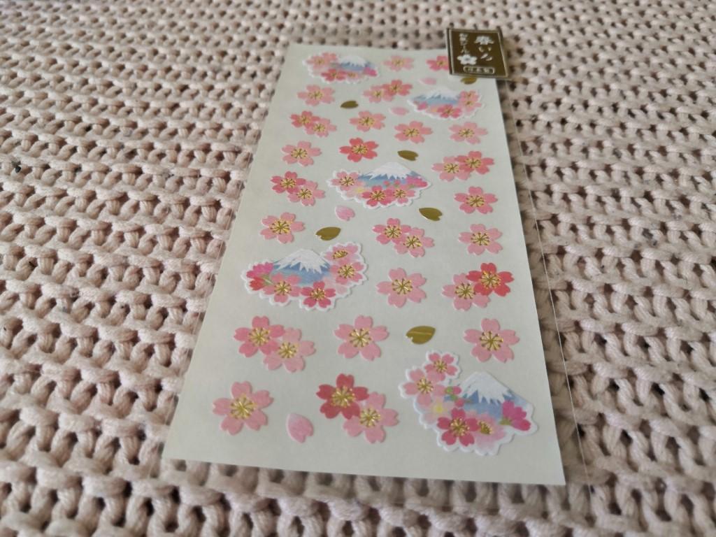 planche de stickers fleurs de cerisiers box papeterie zenpop édition limitée sakura