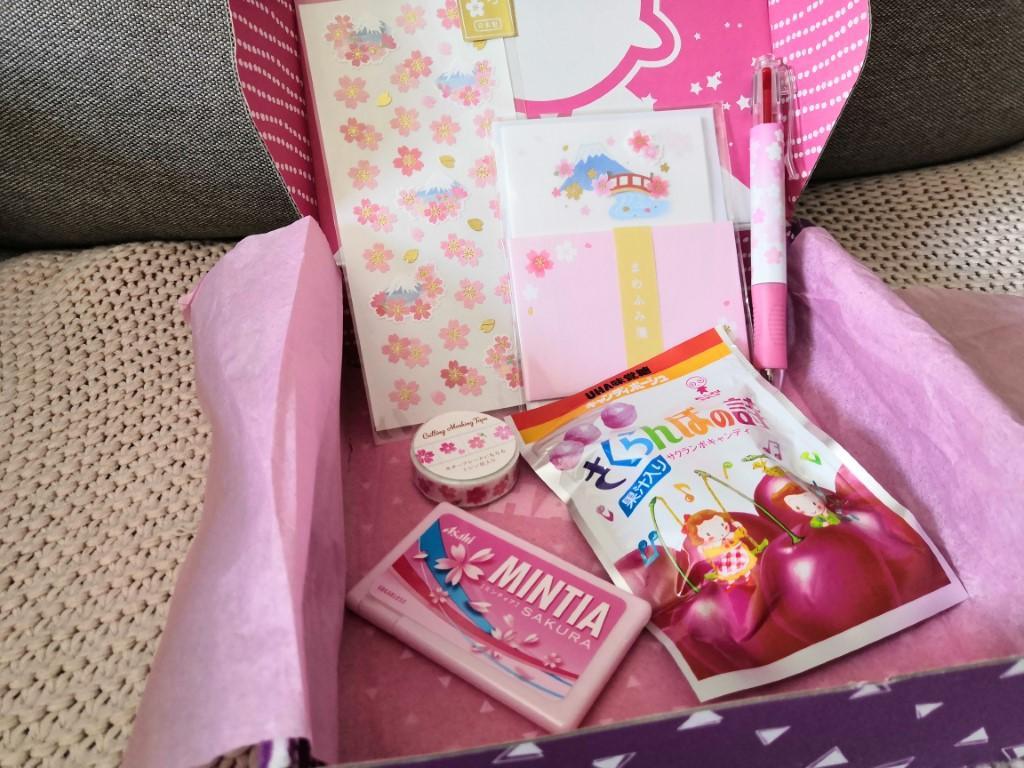 unboxing box papeterie zenpop édition limitée sakura