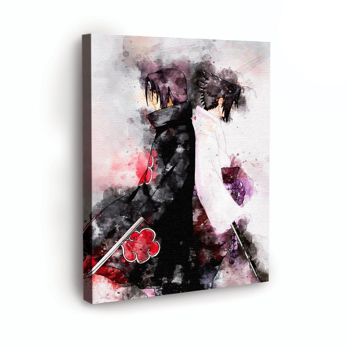 geek art tableau manga naruto itachi sasuke