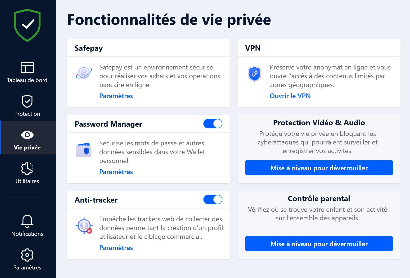 bitdefender antivirus plus protection vie privee