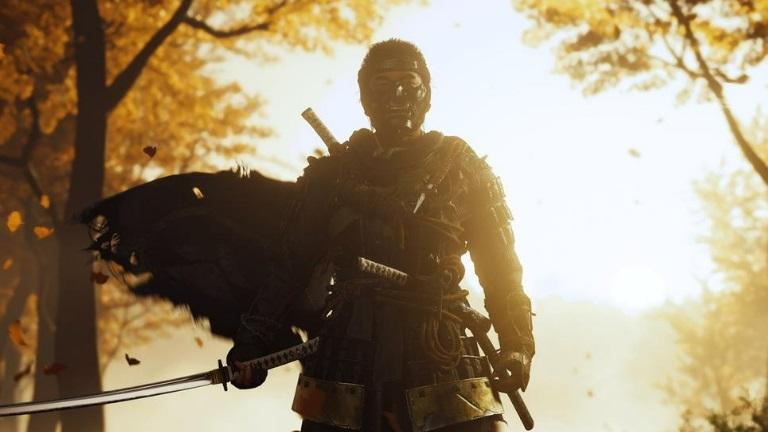 ghost of tsushima samourai sunset coucher de soleil