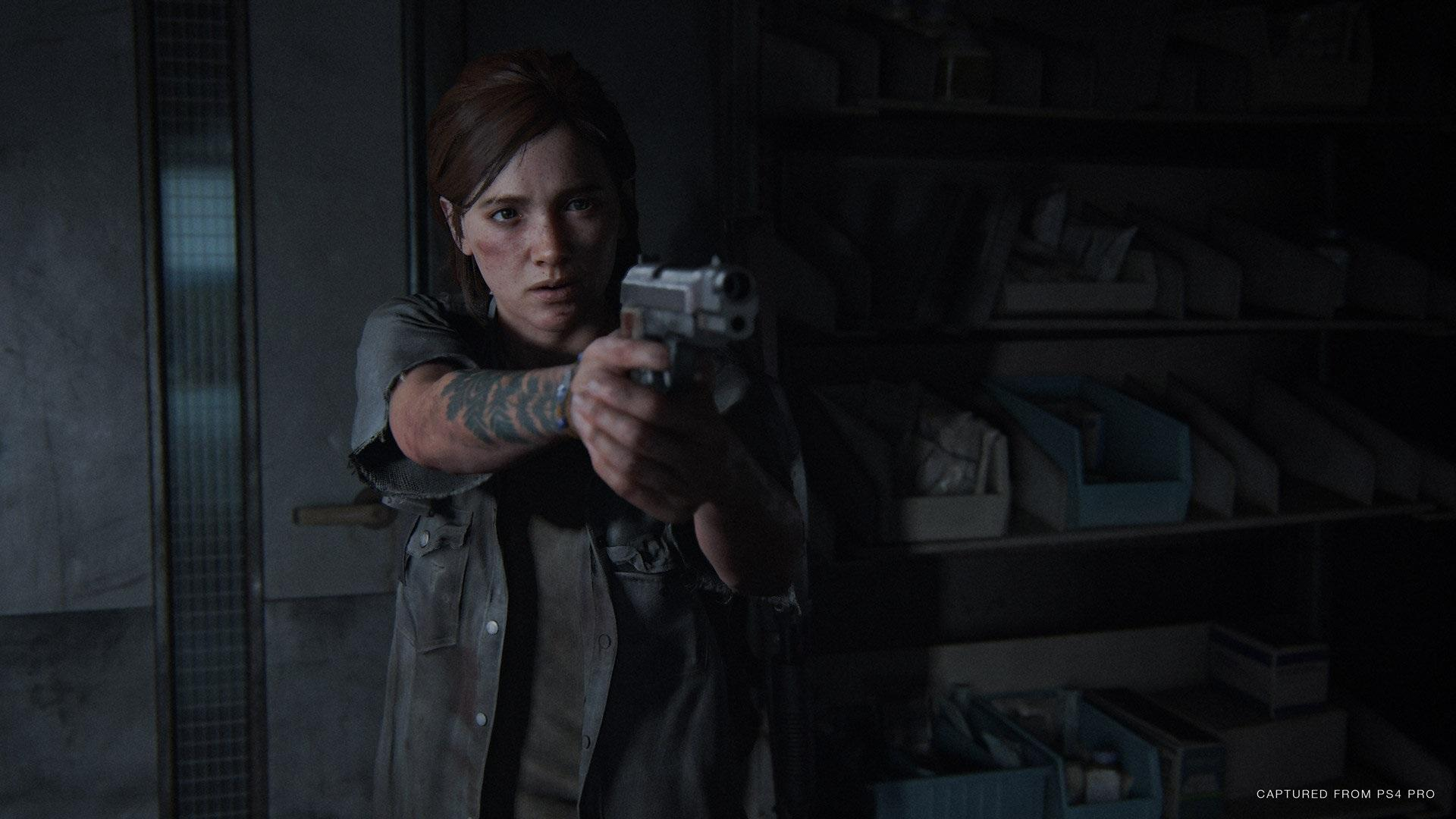 the last of us part 2 ellie shooting gun