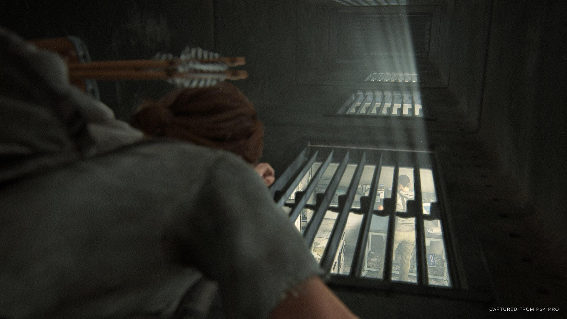 the last of us part ellie traverser passage étroit