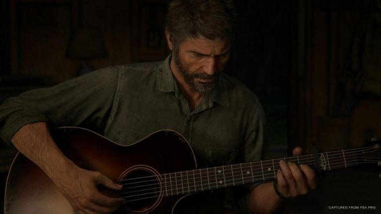 the last of us part joel playing guitar